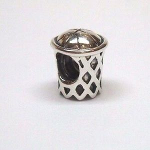 Chamilia Sterling silver basketball hoop charm